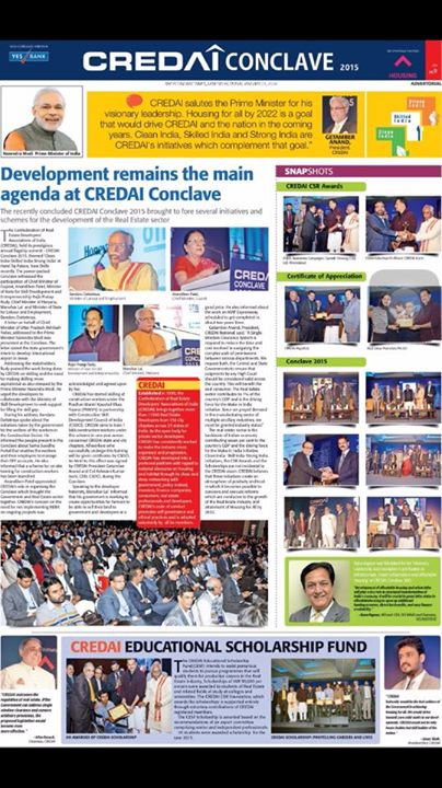 Advertorial of CREDAI Conclave 2015 published yesterday:The Economic Times