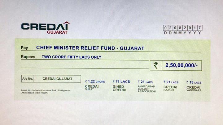Resp.shri Vijaybhai Rupani,  Aapko Credai ki taraf se janma din ki shebhehha !!💐💐💐  Credai - Gihed is also involved in distributing kit to the needy people since last week!!