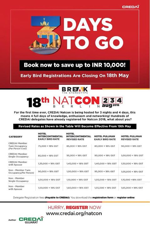 We can't wait for #NATCON2018!   We've just brought on-board @CBRE_India, @CushWake & @JLLIndia as our knowledge partners this year. We're excited!   Berlin, we're coming.