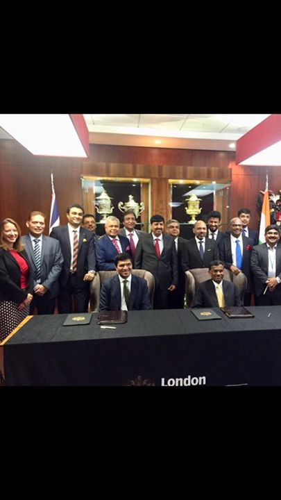 Great historical moment to witness London Stock Exchange & National Stock Exchange sign agreement for Dual listing of Masala Bonds at GIFT IFSC - GIFT City in the presence of Shri MK Das, GoG in London....