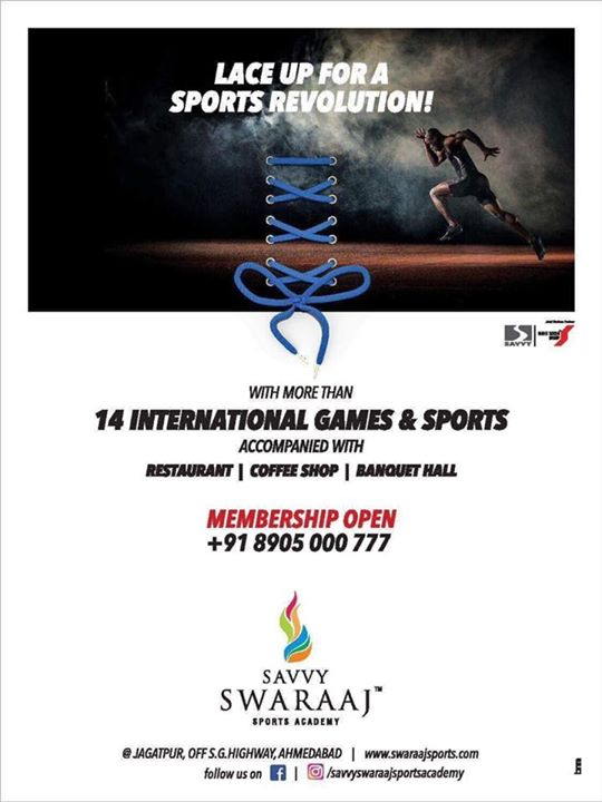 Launching Memberships from TODAY, for state of the art , much awaited #savvyswaraajsportsacademy -Lead your way to a Sporty Life!  To Apply - www.swaraajsports.com  #membershipopen #memberships #sportsacademy #sportsliving #savvyswaraajsportsacademy #savvy #savvyswaraaj #healthylife #fitlife #health #healthy #neversaynever #perspiration #energy #gym #sportsman #sportsmanspirit #tshirt #champ #shoes #sportshoes #coach #indiangames #india #inspire #life #tournament #championship