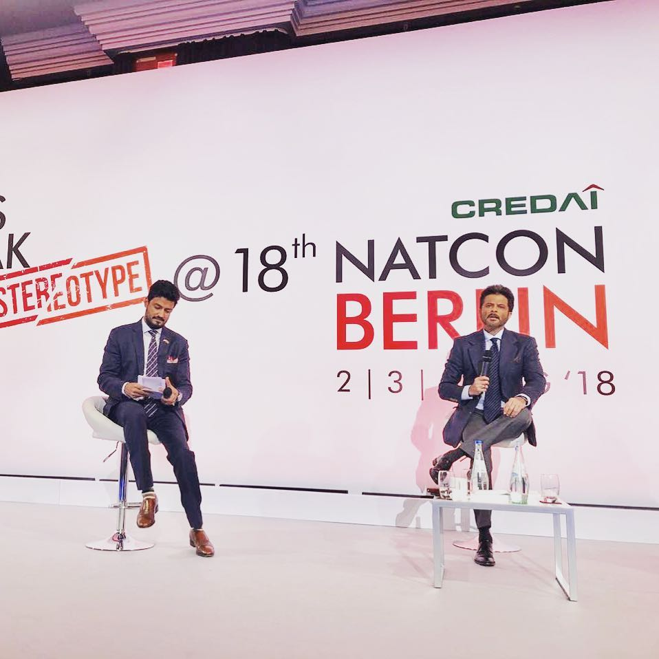 One of the very few times in life that I've moderated a discussion. Here with the great and humble @anilskapoor at CREDAI NATCON in Berlin.