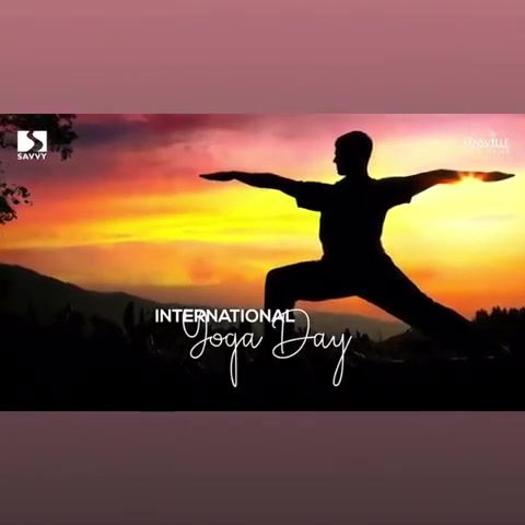 The word yoga comes from Sanskrit, the language of ancient India. It means union, integration or wholeness  This international yoga day- be one with yourself