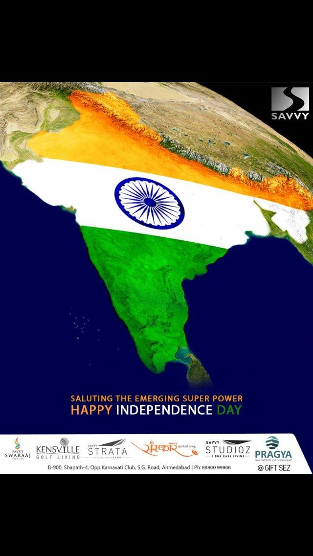 Jaxay Shah,  HappyIndependenceDay, IndependenceDay18, IndependenceDay, IndependenceWeek, Celebration, 15thAugust, Freedom, SavvyGroup, RealEstate, Ahmedabad