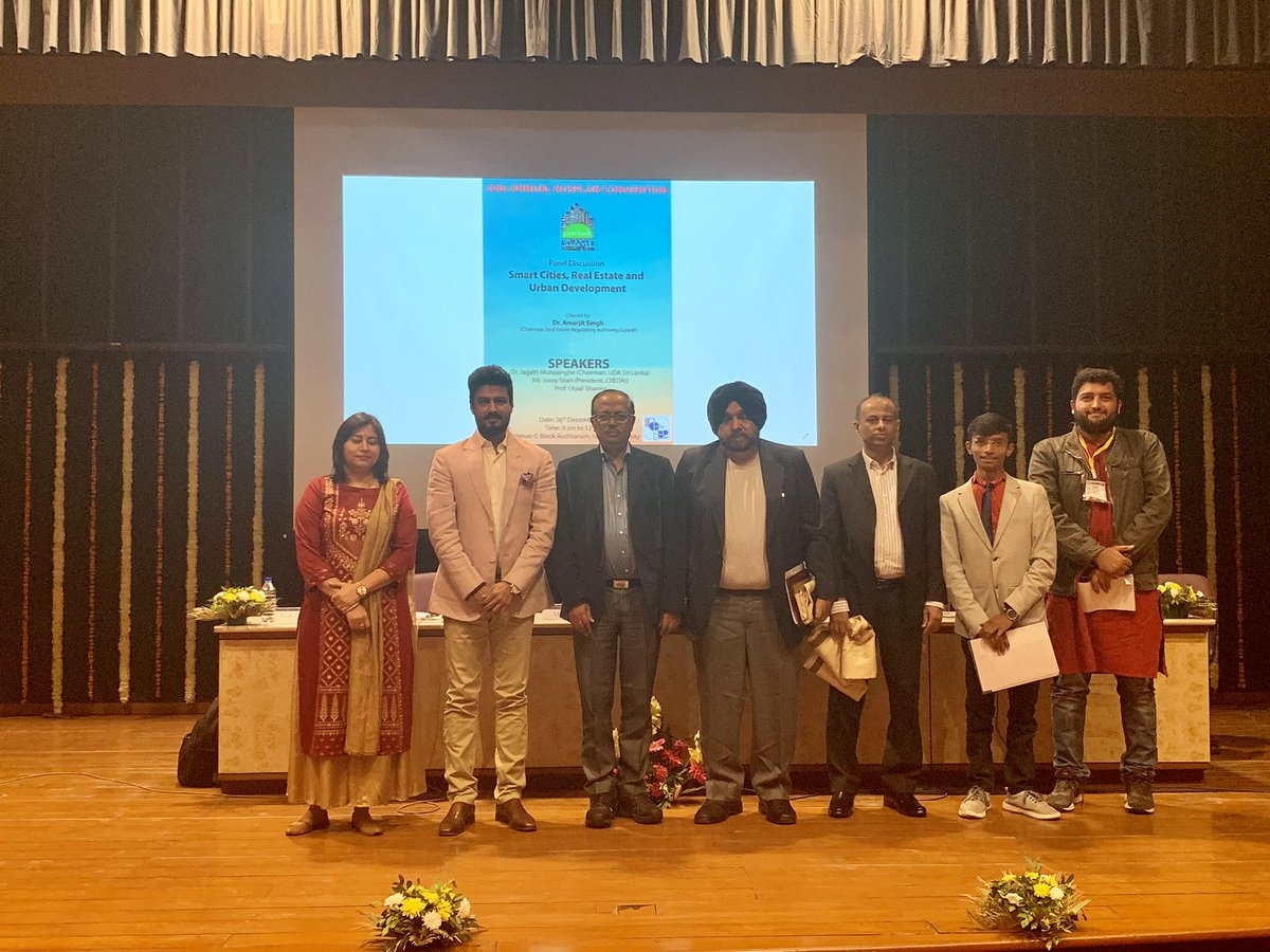 Had a great interaction with future urban planners of India today at Nirma University with Prof Utpal Sharma ( Director Nirma University) , Dr Amarjeetsingh ( Gujarat RERA Chairman) and Dr Jagath Munasinghe ( Chaiman Urban Authority Sri Lanka ) https://t.co/LHY78rjRXw