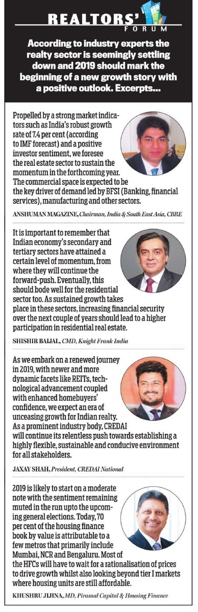 RT @CREDAINational: Our President, @jaxayshah shares his views on the scenario of #RealEstate in #India in #2019. https://t.co/EfxOmmtTpR