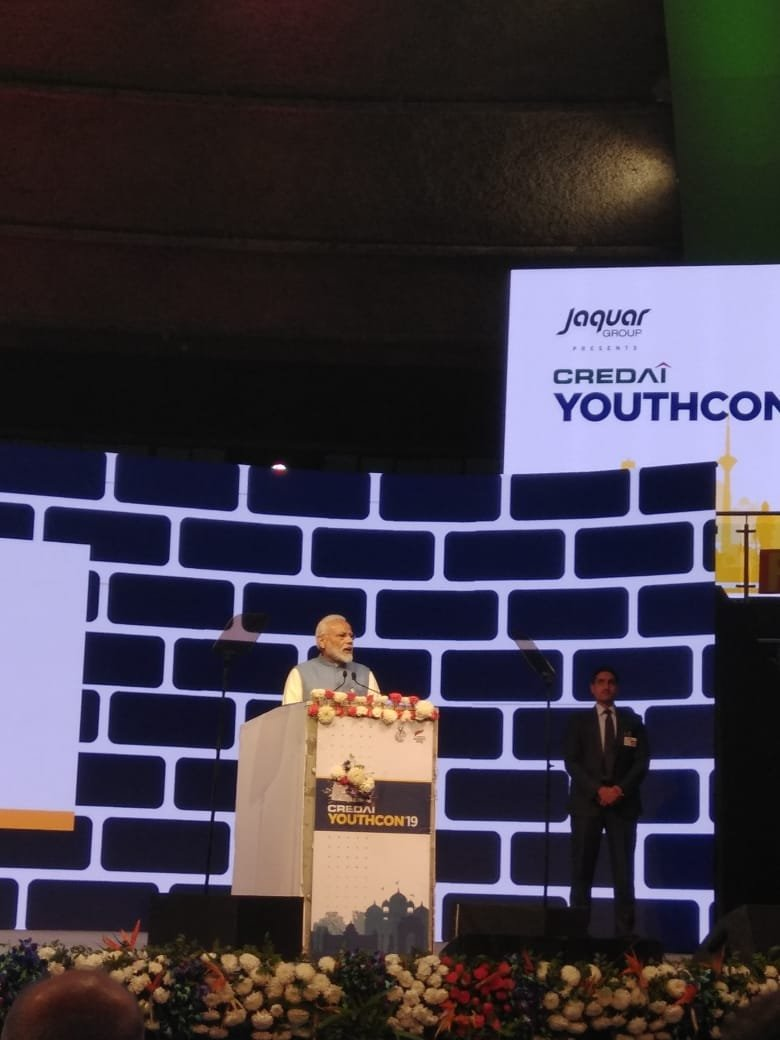 RT @CREDAINational: Our honourable Prime Minister, @narendramodi addressing the audience at #CREDAIYouthCon2019. https://t.co/UtqhHlNPHC