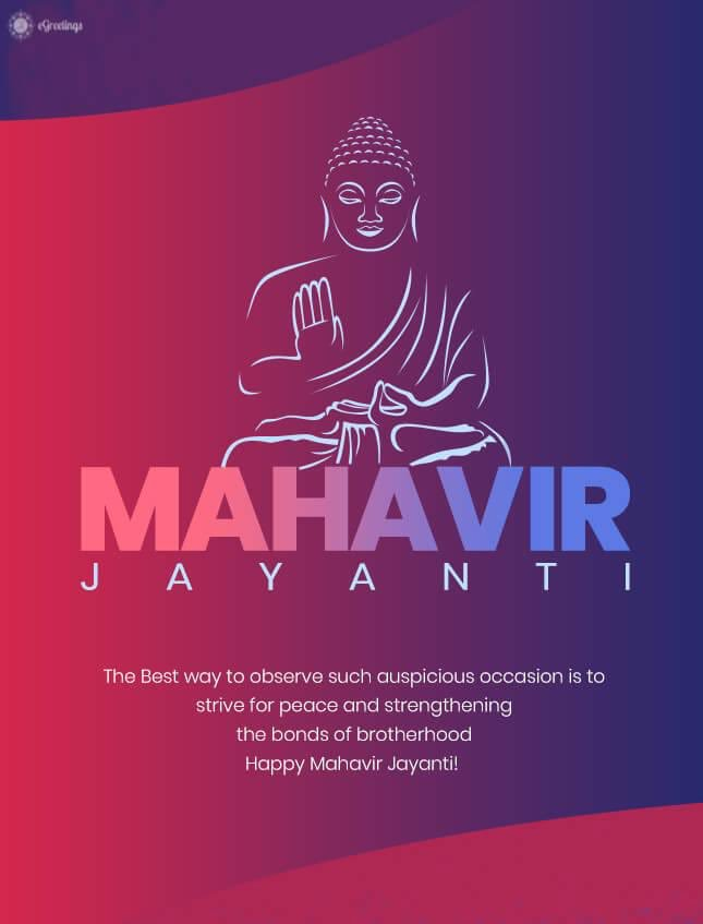 May Lord Mahavir Bless you abundantly And fill your life with The virtue of truth, Non violence & External compassion.  Happy Mahavir Jayanti.@CREDAINational @ASSOCHAM4India @SavvyAhmedabad https://t.co/EjVfXdUeRZ