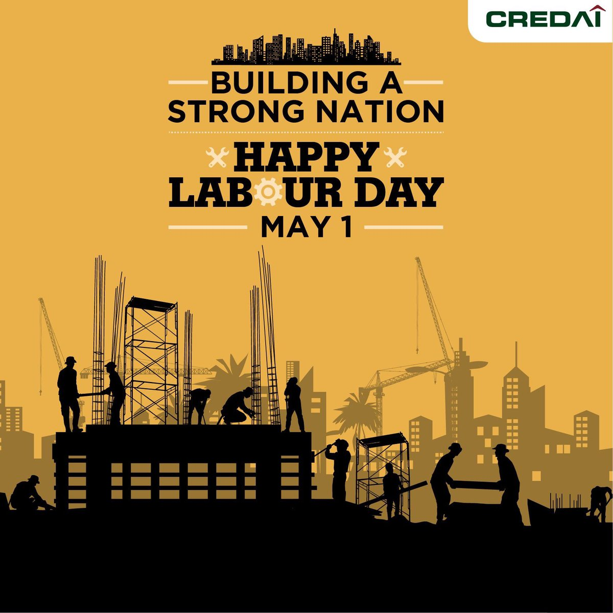 #CREDAI honors & celebrates the workmanship of all construction workers who have played an important role in building infrastructure that fuels India's economic growth and homes to fulfill the dreams of our fellow citizens. #LabourDay #BadhtiKushalta #PragatiKiAur https://t.co/j1EwsMunk7