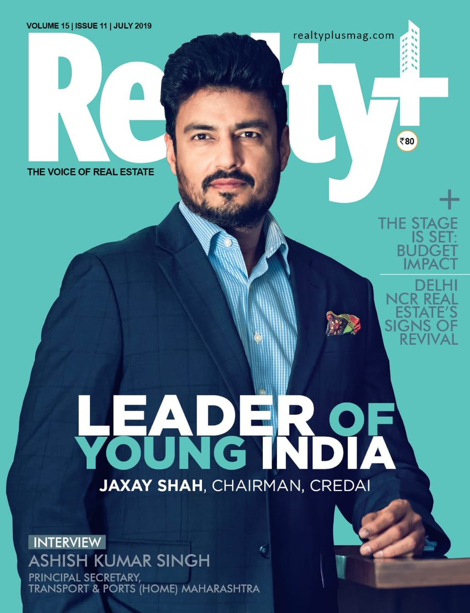 Thank you Realty Plus and their editorial team. Dedicating this honor to the restless, dynamic, and hardworking 204 CREDAI city chapters, CREDAI Women's wing, and CREDAI Youth wing members. @SavvyAhmedabad @CREDAINational @CREDAI_MCHI @ASSOCHAM4India @CREDAINCR @Credaibihar https://t.co/01wGCdlbb9