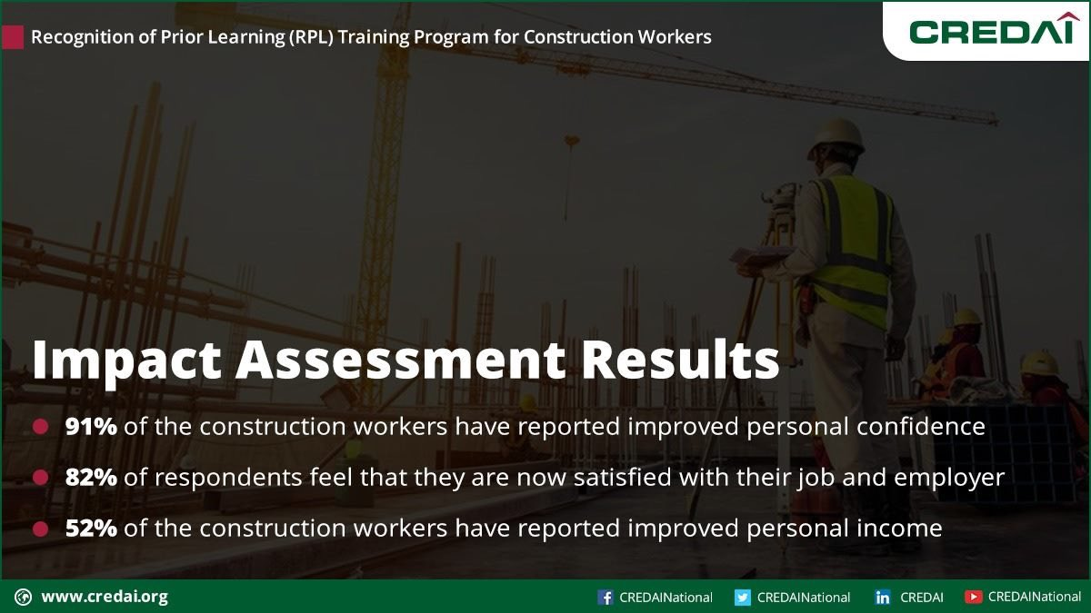 Construction workers who have participated in CREDAI's Skill Development Program have reported personal, professional, &financial improvements after the training  NSDC  Skill India PMO India #AbSkillsKibaari #Skills4NewIndia #PMKVY @CREDAINational @HardeepSPuri @Secretary_MoHUA https://t.co/dLdv3HA5fT