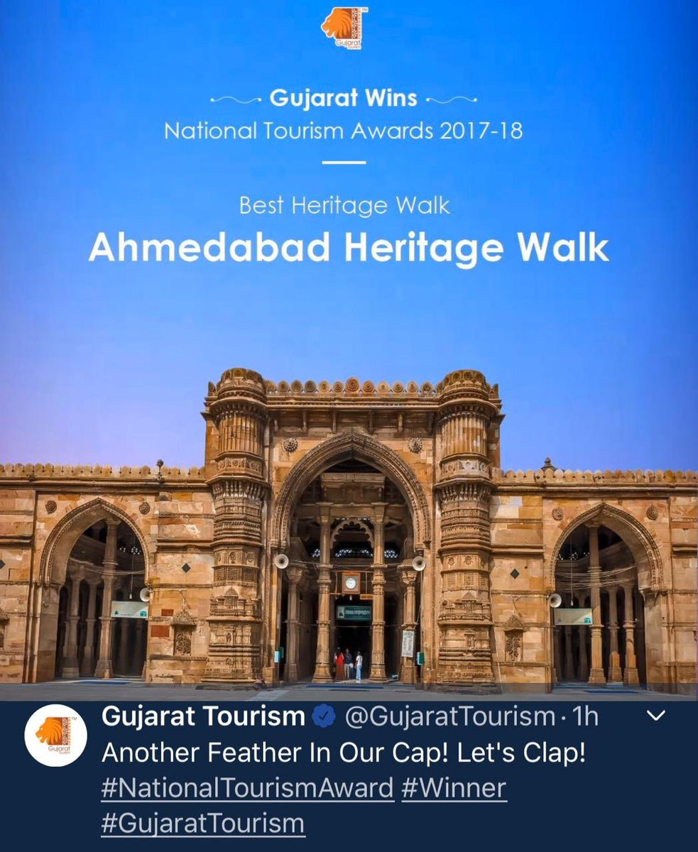 Congratulations to all the Amdavadis ! It's matter of proud for all of us. Many congratulations to Ahmedabad Municipal Corporation, all the leaders from Political wing and administration.@AmdavadAMC @vnehra @vijayrupanibjp https://t.co/ivElICIPgD