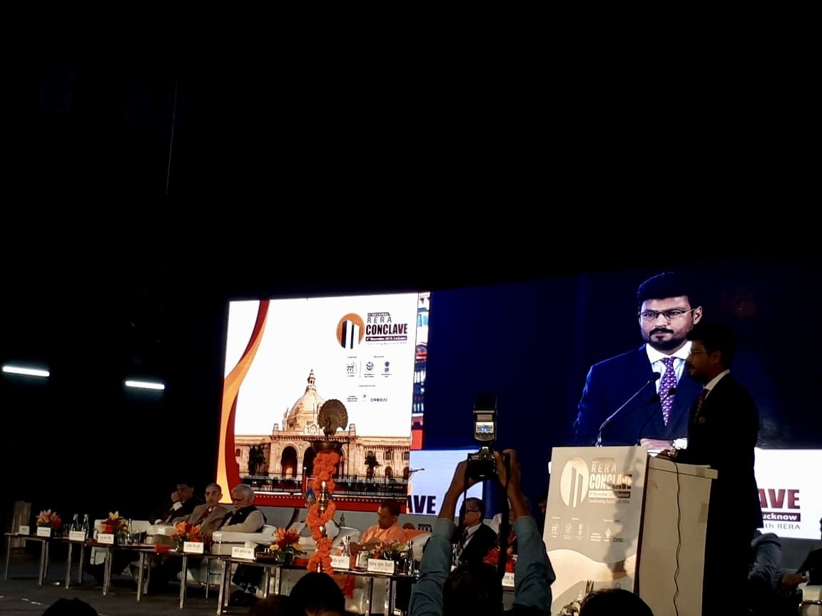 On behalf of @CREDAINational, I'd like to extend my gratitude to @myogiadityanath #GovtOfIndia & @UPRERAofficial for organizing #RERAConclave in Lucknow & giving me the opportunity to address issues and share recommendations to further strengthen the #IndianRealtySector https://t.co/TpUvlEX76q