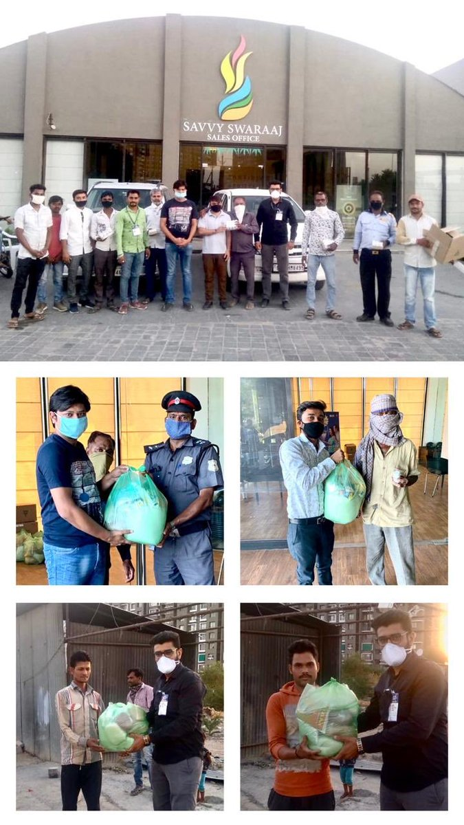 Time to give them back, Concreting the wall of safety and health @ Savvy Swaraaj labour colony. Stay safe stay healthy. Thanks to the Savvy Swaraaj team under the leadership of Nirav and Dhaval.@SavvyAhmedabad @vnehra @vijayrupanibjp @CollectorAhd @CREDAINational @ASSOCHAM4India https://t.co/qwkP19YT3z