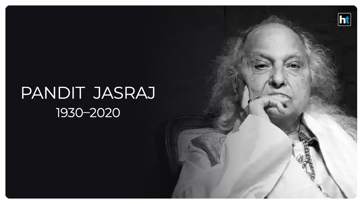 With the passing away of Pandit #Jasraj ji, India has lost one of its greatest classical vocalist. I pay my heartfelt tribute to the maestro and my deepest condolences  to the family 🙏🙏 https://t.co/o4jRr03nBB
