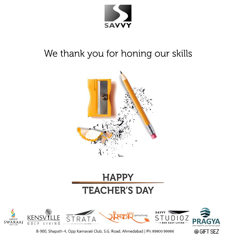 "If you are in a state of reaction, anyone or anything can take charge of your life. Conscious response is the way forward.   ""Wish you a very happy teachers day"" @CREDAINational @ASSOCHAM4India @SavvyAhmedabad #TeachersDay2020 https://t.co/m0qvOrhniI"