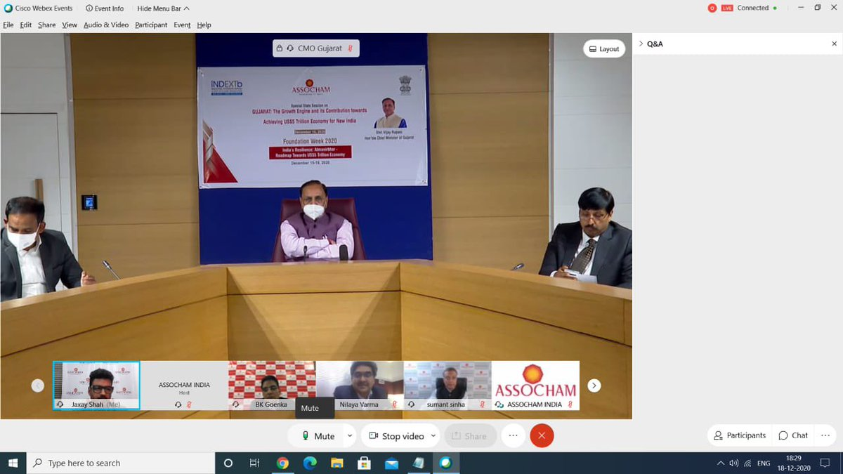 #GujaratIndustrialPolicy2020 for the extensive industrial growth of Gujarat, receiving impressive feedback from industries. Thankful to @ASSOCHAM4India for giving continuous industry inputs@CMOGuj, Sh.@vijayrupanibjp during #ASSOCHAMFoundationWeek @SavvyAhmedabad @CREDAINational https://t.co/Wc29AqW9ma
