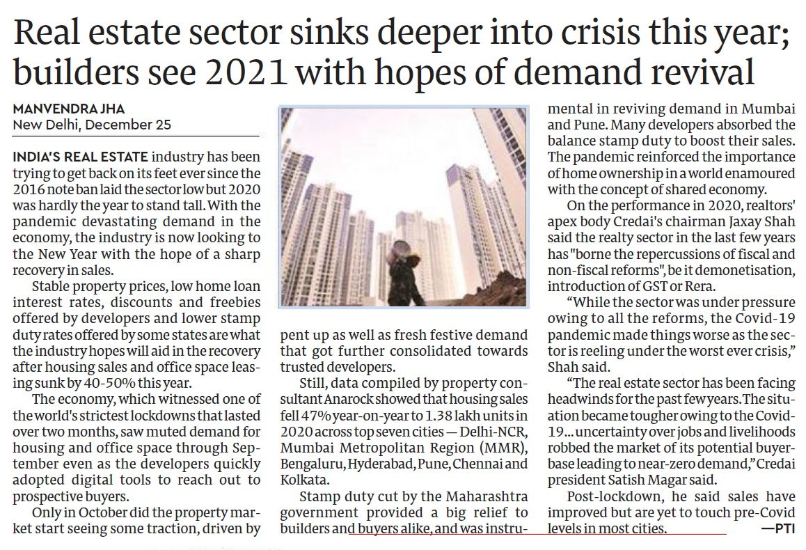 RT @MANVENDRAJHA: @PTI_News in Financial Express. #realestate https://t.co/9O2p8pMUNj