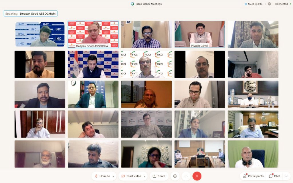 Took part in metg chaired by Union Minister @CimGOI Sh @PiyushGoyal  #industry leaders from #ASSOCHAM via videoconferencing alongwith Sh @mansukhmandviya MoS @shipmin_india to evaluate preparedness & risk mitigation work being undertaken for 🌀 #Tauktae @CMOGuj @SavvyAhmedabad https://t.co/9bNRucgBEJ