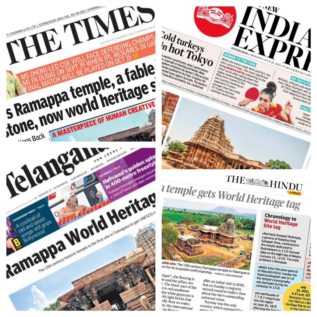World heritage tag of @UNESCO for Ramappa Temple means a lot locally in Telangana too…  Being vocal for local is global too… @CREDAINational @credai  Telangna https://t.co/5RhTTTpiHh