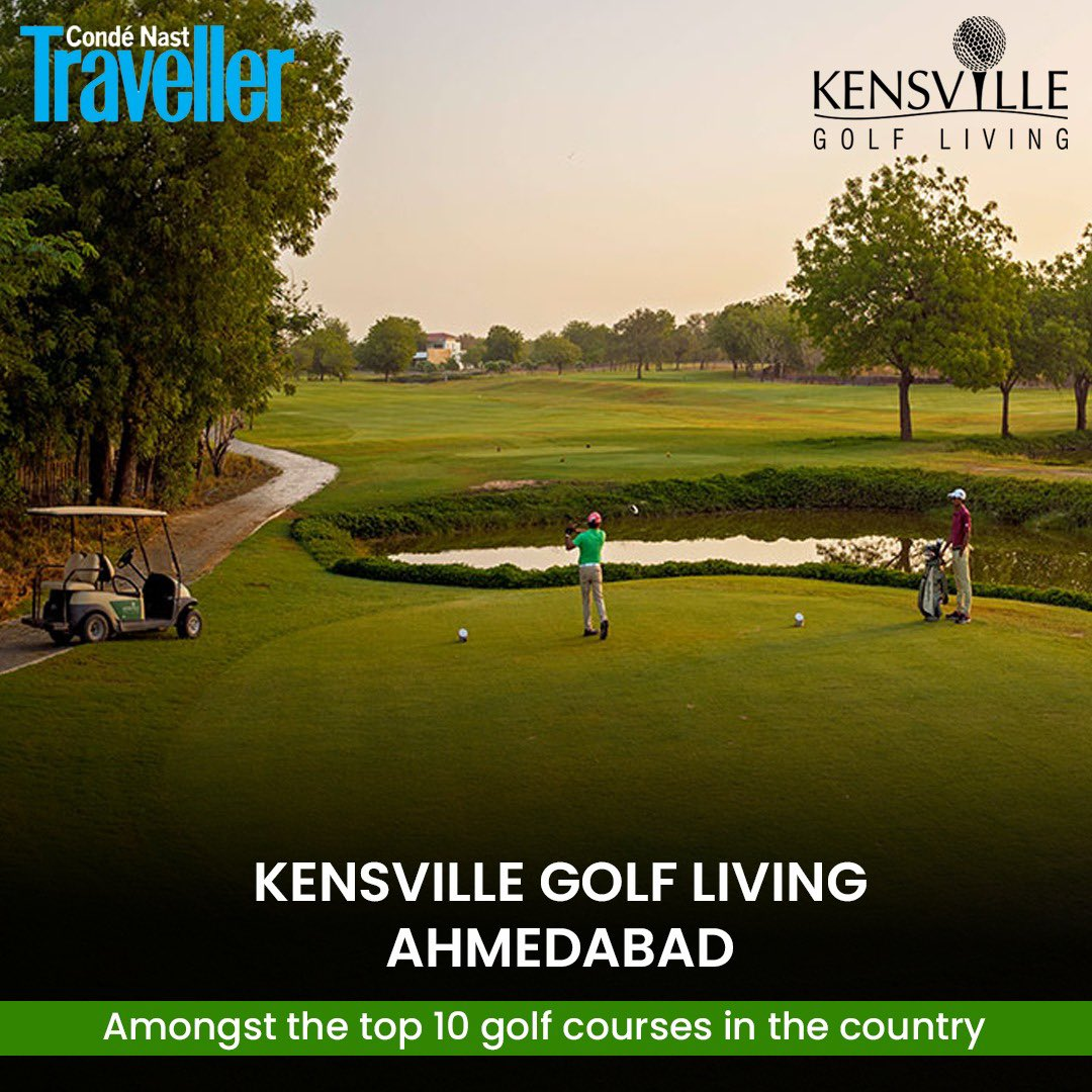 With Immense pleasure Kenville golf & country Club is proud to announce that it is featured in one of the supreme magazines of all time Condé Nast Traveler as India's 10 golf courses.We thank all our supporters . @JeevMilkhaSingh @SavvyAhmedabad @KensvilleGolf @tourismgoi https://t.co/cXTLdkfvL3