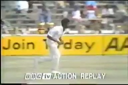 The Rolls Royce of fast bowlers, Michael Holding turned 67 on 16th Feb. In a short tribute BBC re-created this short footage of the immortal Oval '76 hat-trick. All the way through Richie Benaud analysing the run in and bowling action in slo-mo. #Cricket https://t.co/cwpHY8RAei